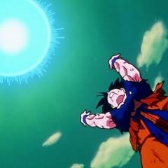 Goku prepares the