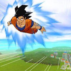 Goku flies