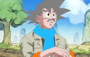 Goku talking to shorty