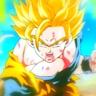 Ssj2 Goku fighting Majin Vegeta