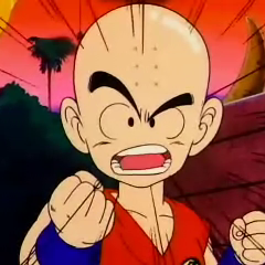 Krillin makes Goku promise to treat him like an opponent before they fight.