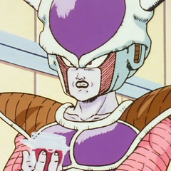 Frieza drinks wine while frustrated