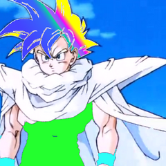 Gotek as a Colored Super Saiyan.