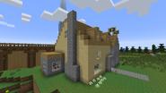 Kittredge Residence chimney and porch