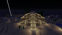 Ziggurat at night