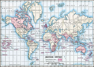 1910 British Empire Map