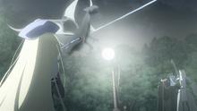 Sigmund Using His Body to Intercept Eliza's Jet Water Spear
