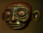 Gold and Ruby Inca Mask