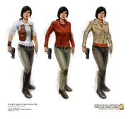 Chloe (Uncharted 3) concept art