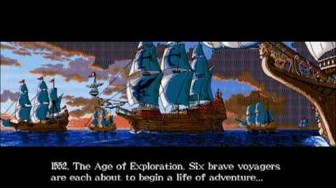 Uncharted Waters 2 New Horizon intro - DOSBox