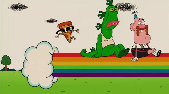 File:Uncle Grandpa, Belly Bag, Mr. Gus, and Pizza Steve in Tiger Trails 22.png