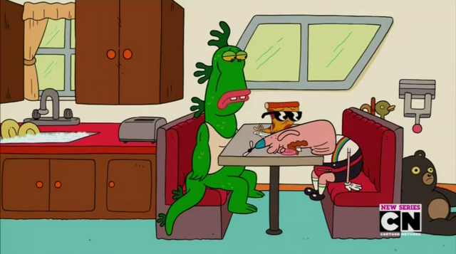 File:Uncle Grandpa, Belly Bag, Mr. Gus, and Pizza Steve in Tiger Trails 27.png
