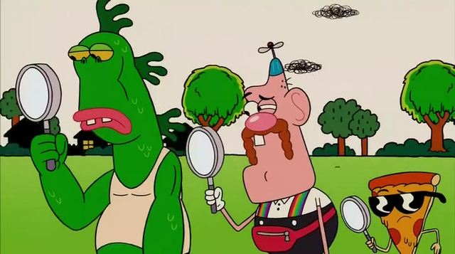 File:Uncle Grandpa, Belly Bag, Mr. Gus, and Pizza Steve in Tiger Trails 25.png