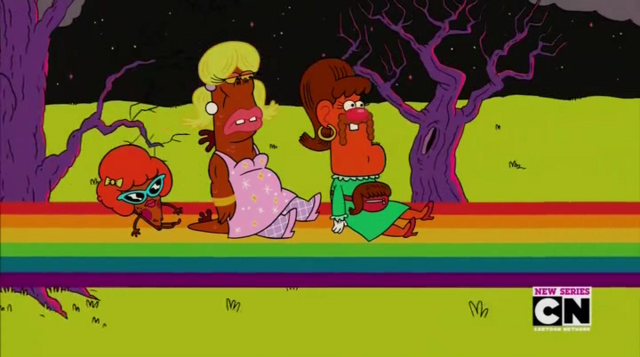 File:Uncle Grandpa, Belly Bag, Mr. Gus, and Pizza Steve in Tiger Trails 17.png