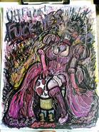 Princess toadstool on her toad stool by eibbors-d66g9oq