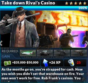 Job take down rivals casino