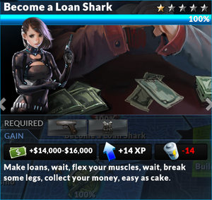 Job become a loan shark