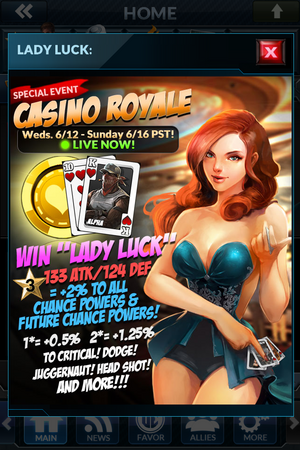 Event casino royale lady luck