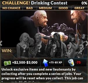 Job drinking contest