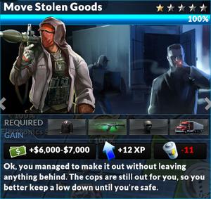Job move stolen goods