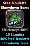 Execute steal roulette showdown items