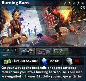 Job burning barn