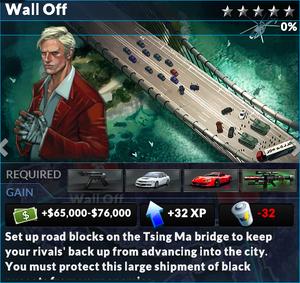 Job wall off