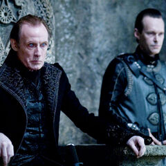 Viktor and Tanis in the Council Chamber.