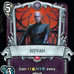 Istvan in Underworld card game