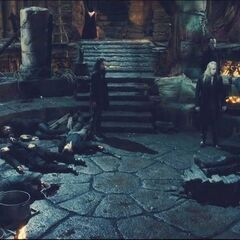 In the coven, after the attack,.