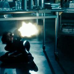 Selene in the cryogenic chamber.