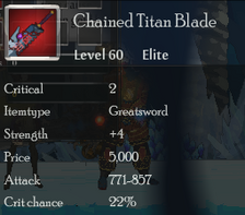 Chained Titan Blade