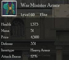 War Minister Armor