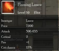 Flaming Lance