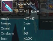 Frozen Sabre
