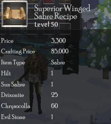 Superior Winged Saber Rec