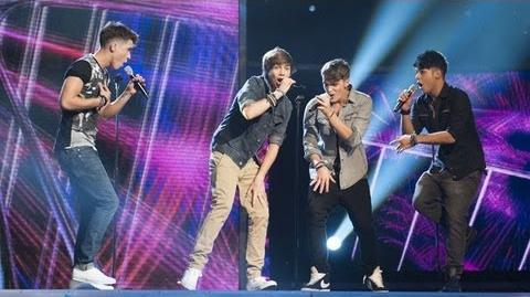 Union J sing Queen's Don't Stop Me Now - Live Week 1 - The X Factor UK 2012