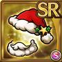 Gear-Red Santa Hat & Beard Icon
