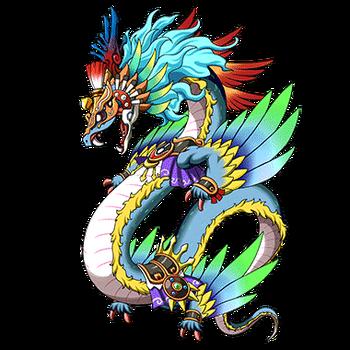 Gear-Wind God Quetzalcoatl Render