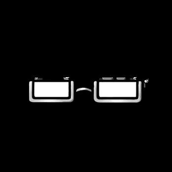 Gear-White Half Rim Glasses Render
