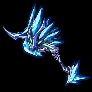 Gear-Frozen Dragon Axe Render