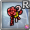 Gear-Red Japanese Hair Clip Icon