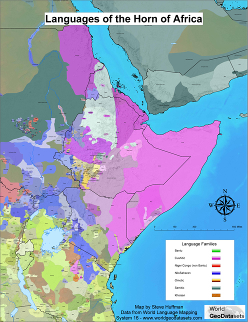 Map Of Horn Africa Nile River Map India Map Iberian - World language mapping system