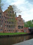 Lübeck-Salzspeicher an der Trave