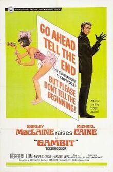 Gambit (1966 film) poster
