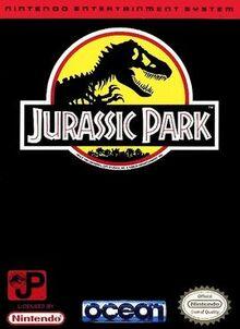 Jurassic Park box art (NES)