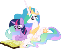 Twilight and Celestia