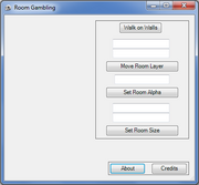 Room Gambler interface