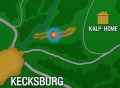 Map of the crash site kecksburg