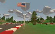 Kent Raceway - US flag